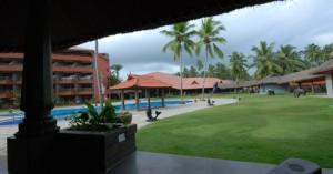De tuin van de Indiase cursusinstelling ISPAA